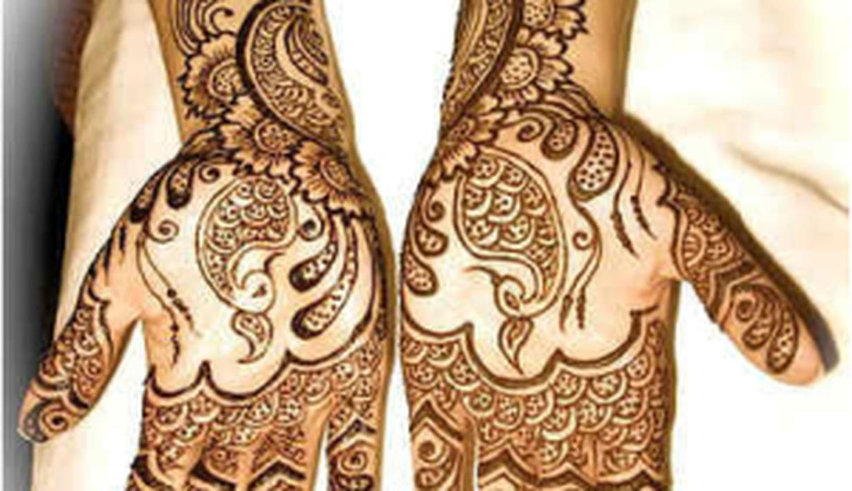 13 Gaya Desain Henna Arab Untuk Pernikahan Wanita Muslimah Fashion