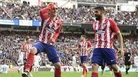Antoine Griezmann selebrasi gol ke gawang Real Madrid (JAVIER SORIANO / AFP)