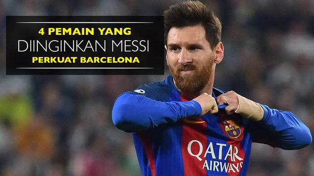 Berita video pemain-pemain yang diinginkan Lionel Messi memperkuat Barcelona untuk musim 2017-2018. Namun, tentu tidak mudah bagi Barcelona.