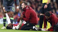 Penyerang Arsenal, Danny Welbeck, mengalami cedera parah (AP/Frank Augstein)