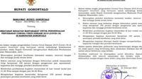 Maklumat Bupati Kabupaten Gorontalo (Arfandi/Liputan6.com)