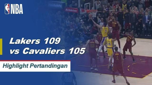 LeBron James turun 32 poin, meraih 14 rebound, tujuh assist dan mendapat kemenangan saat kembali ke Cleveland 109-105.