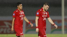 Persija Jakarta sebenarnya sudah berhasil unggul dua gol lebih dulu melalui aksi Otavio Dutra pada menit 45+1 dan Marko Simic pada menit 49. (Foto: Bola.com/M iqbal Ichsan)