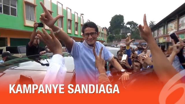 Cawapres Prabowo Sandiaga Uno bersafari politik ke provinsi Jambi. Sandi Berjanji akan membuat program agar masyarakat menengah ke bawah bisa berhaji