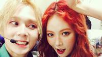 HyunA dan E'Dawn [foto: Soompi]