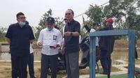 Ketua DPP PDIP bidang Tenaga Kerja, Industri, Infrastruktur Nusyirwan Soejono kunjungi daerah irigasi Pantura, Jawa Barat. (Liputan6.com/Istimewa)