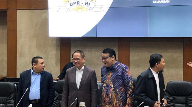 Ketua Komisi XI DPR RI Dito Ganinduto memimpin sidang komisi. (Liputan6.com/Delvira Hutabarat)