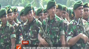 Meski pemungutan suara sudah usai, menurut Asop Kodam Jaya Kolonel Zamroni, pasukan TNI tetap bersiaga untuk memback up kepolisian bila dibutuhkan.