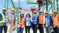 Pansus Pelindo II melakukan kunjungan kerja spesifik di pelabuhan Terminal Teluk Lamong, Surabaya.