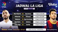 Pertandingan Liga Spanyol pekan ke-30 dapat disaksikan melalui platform Vidio. (Dok. Vidio)
