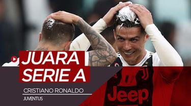 Berita video Juventus meraih gelar juara Serie A 2018-2019 setelah mengalahkan Fiorentina di Allianz Stadium, Sabtu (20/4/2019). Cristiano Ronaldo akhirnya merasakan gelar juara Liga Italia.
