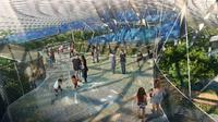 Bagaimana bila sensasi hutan hujan dan taman bisa dinikmati dalam bandara? Changi Airport Singapura akan segera membuka wahana terbarunya. (Jewel Changi)