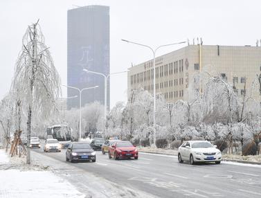 Salju Lebat Langka Melanda Jilin di China timur laut