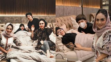 7 Potret Kebersamaan Krisdayanti dan Yuni Shara saat Jenguk Aurel di Momen Lebaran