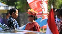 Presiden Jokowi dan 5 menteri Peringati Hari Ibu di Papua. (Kementerian PPPA)