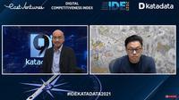 Webinar Katadata Indonesia Data and Economic Conference (IDE) 2021, Selasa (23/3/2021).