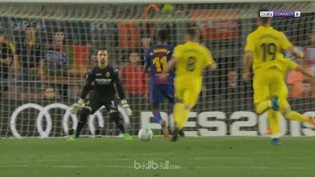 Berita video 5 gol Barcelona ke gawang Villarreal, di mana salah satunya dicetak Ousmane Dembele dengan indah. This video presented by BallBall.