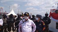 Menteri Kelautan dan Perikanan, Sakti Wahyu Trenggono melepas ekspor 79,5 ton rumput laut kering asal Batam.