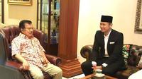 Agus Yudhoyono menemui Wapres Jusuf Kalla (foto: istimewa)
