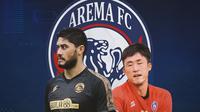 Arema FC - Adilson Maringa, Renshi Yamaguchi (Bola.com/Adreanus Titus)