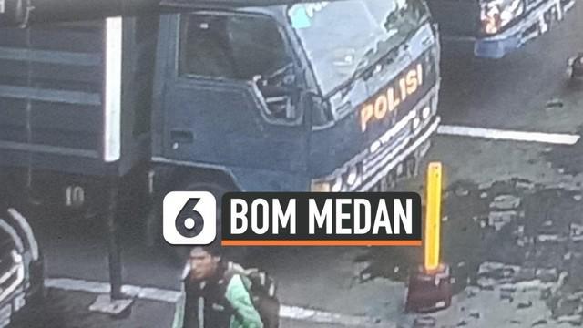 Sebuah foto dari rekaman CCTV mapolrestabes beredar. Pria dalam foto diduga sebagai pelaku bom bunuh diri yang meledak Rabu (13/11) pagi.