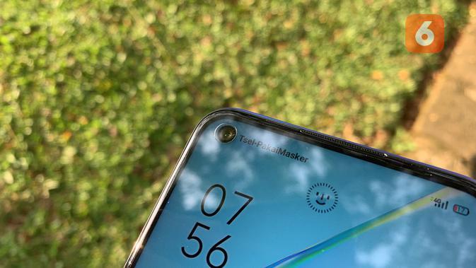 Kamera selfie Oppo A54. (Liputan6.com/ Yuslianson)