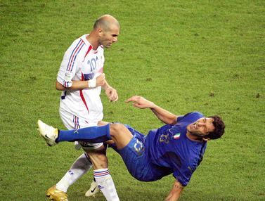 Momen Tandukan Maut Zinedine Zidane ke Marco Materazzi di Piala Dunia 2006