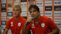 Pelatih Persipura Jayapura Luciano Leandro optimistis dapat patahkan rekor menghadapi Persib di Bandung. (Huyogo Simbolon)
