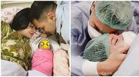 Perjuangan Asmirandah saat melahirkan anak pertamanya. (Sumber: Instagram/@asmirandah89/@jonas.rivanno)