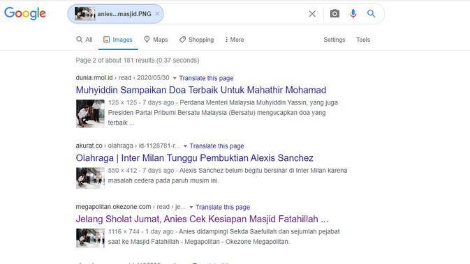 Penelusuran klaim foto Gubernur DKI Jakarta Anies Baswedan  mencoret-coret masjid.