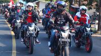 "Untuk memperingati HUT Republik Indonesia ke-74 , sekitar 2.800bikerspecinta sepeda motor Honda melakukan aktivitas bernuansa kebangsaan. Bertajuk ""Convoy Merdeka"""