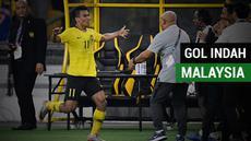 Berita video momen gol indah Malaysia ke gawang Vietnam pada leg I Final Piala AFF 2018, Selasa (11/12/2018).
