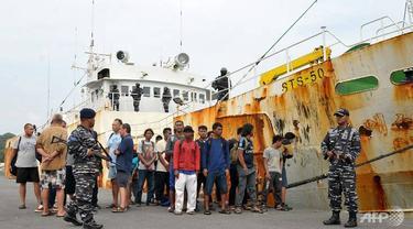 Kapal Andrey Dolgov, berhasil ditangkap oleh Angkatan Laut Republik Indonesia pada 6 April 2018 lalu (AFP)