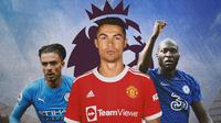 Premier League - Jack Grealish, Cristiano Ronaldo, Romelu Lukaku (Bola.com/Adreanus Titus)