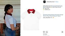 Selanjutnya, Nikita Willy memakai kaus berkerah yang bermerek Gucci juga. Dan untuk memilikinya, Niki pun harus mengeluarkan uang sebesar Rp. 2.187. 810. (Instagram/nikitawillycloset)