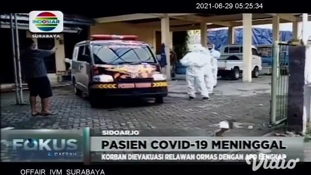 Seorang warga di Sidoarjo, Jawa Timur, meninggal dunia ketika menjalani isolasi mandiri, karena terinfeksi Covid-19 di rumahnya. Sempat mengeluh sesak napas dan oksigen habis.