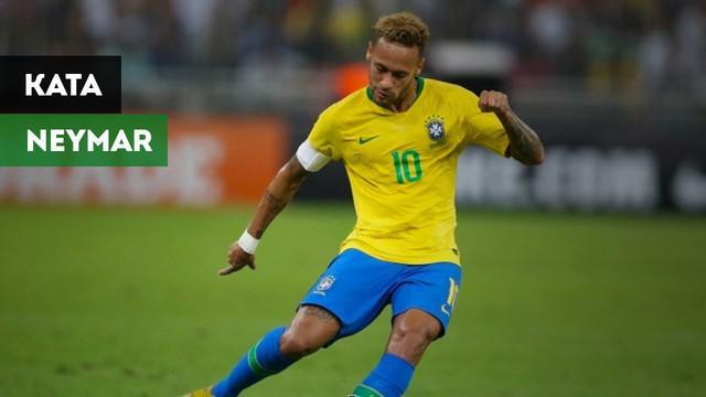 Berita video komentar Neymar setelah menang dramatis atas Argentina pada laga persahabatan di King Abdullah Sport City Stadium, Jeddah, Selasa (16/10/2018) waktu setempat