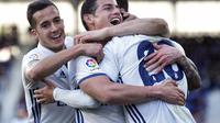 Real Madrid menggilas Eibar 4-1. (ANDER GILLENEA / AFP)