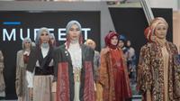 Hasil karya desainer MUFFEST 2021 di Gandaria City Mall Jakarta (dok Muslim Fashion Festival 2021)