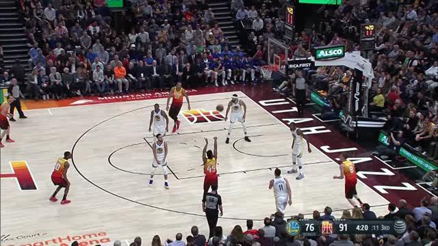 Berita video game recap NBA 2017-2018 antara Utah Jazz melawan Golden State Warriors dengan skor 129-99.