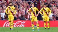 Barcelona kalah dari Athletic Bilbao pada laga pekan pertama La Liga 2019-20. (AFP/Ander Gillenea)