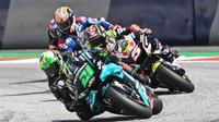 Detik-detik sebelum Franco Morbidelli terlibat insiden dengan Johann Zarco pada balapan MotoGP Austria, Minggu (17/8/2020).