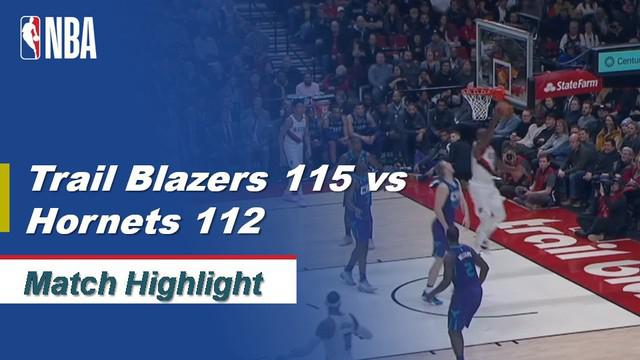 Berita Video Highlights NBA 2019-2020, Portland Trail Blazers Vs Charlotte Hornets 115-112