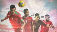 Trivia - Striker Murni Indonesia: Lerby Eliandry, Ferdinand Sinaga, Rafli Mursalim, Marinus Wanewar (Bola.com/Adreanus Titus)