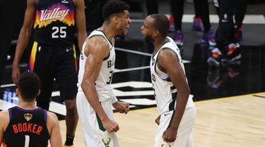 Hasil NBA Finals 2021 : Comeback Gemilang, Bucks Kalahkan Suns di Gim 5
