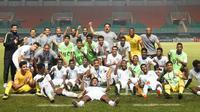 Arab Saudi meraih gelar Piala AFC U-19 2018 setelah mengalahkan Korea Selatan dengan skor 2-1 pada final yang digelar di Stadion Pakansari, Kabupaten Bogor, Minggu (4/11/2018). (dok. AFC)