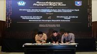 Penandatanganan kerja sama perjanjian Kementerian Dalam Negeri dan Kementerian Keuangan pada Jumat (2/11/2018) (Foto: Merdeka.com/Dwi Aditya Putra)