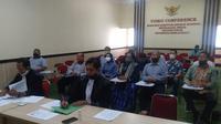 Mahkamah Konstitusi (MK) menggelar sidang perdana uji materi atau Judicial Review (JR) Undang-undang Nomor 33 Tahun 2004 tentang Perimbangan Keuangan antara Pemerintah Pusat dan Daerah secara virtual pada Selasa (11/8/2020). (Liputan6.com/ Ahmad Adirin)