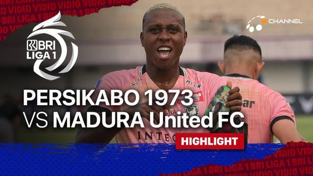 Berita Video, Highlights Pertandingan Persikabo 1973 VS Madura United 1973 pada Jumat (3/9/2021)