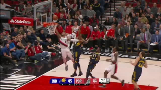 Berita video game recap NBA 2017-2018 antara Portland Trail Blazers melawan Indiana Pacers dengan skor 100-86.